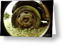A Rolling Tire Gathers No Moss Greeting Card