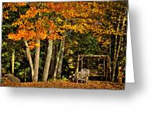 A Romantic Autumn Spot In Inlet Greeting Card