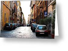 A Rome Street Greeting Card
