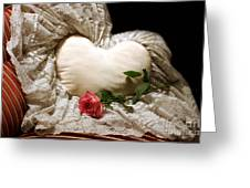 A Rose And A Heart Greeting Card