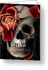 A Rose On The Skull Greeting Card