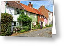 A Row Of Cottages Greeting Card