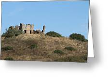 A Ruin In The Hills Of Tuscany Greeting Card