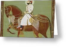 A Ruler On Horseback Greeting Card