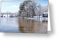 A Rural Lake Greeting Card