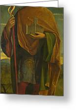 A Saint With A Fortress And A Banner Greeting Card