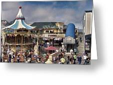 A Scene At The San Francisco Carousel Greeting Card