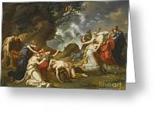 A Scene From Classical Mythology Greeting Card
