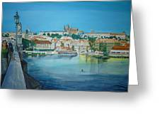 A Scene In Prague 3 Greeting Card