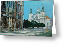 A Scene In Prague Greeting Card