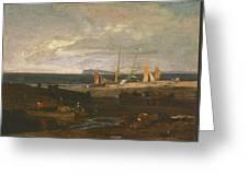A Scene On The English Coast Greeting Card