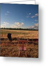 A Seat With A View Greeting Card