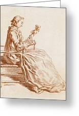 A Seated Woman Greeting Card