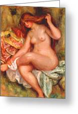 A Seating Bather 1906 Greeting Card