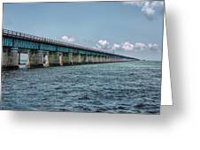 A Section Of The Original Seven Mile Bridge Greeting Card