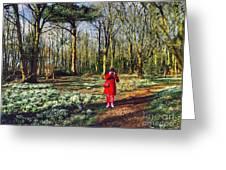 A Selfie In Snowdrop Wood Greeting Card