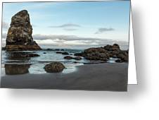 A Serene Morning At Cannon Beach Greeting Card
