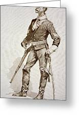 A Sergeant Of The Us Cavalry Greeting Card