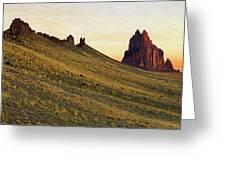 A Shiprock Sunrise - New Mexico - Landscape Greeting Card