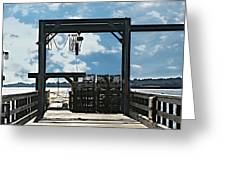 A Short Pier In Portsmouth Nh Greeting Card