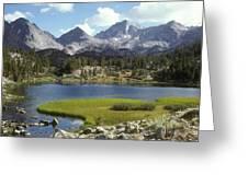 A Sierra Mountain Lake In Summer Greeting Card