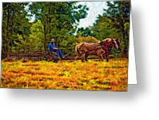 A Simpler Time Impasto Greeting Card