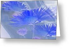A Slanting Blue Wind  Greeting Card