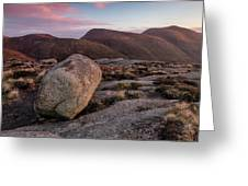 A Slievenaglogh Rock In Fading Golden Light  Greeting Card