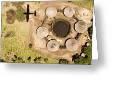 A Small Boma And Family Compound Greeting Card