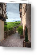A  Small Side Street In Riquewihr Greeting Card