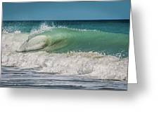 A Small Tube Wave In Atlantic Ocean Greeting Card