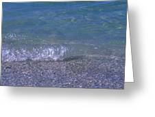A Small Wave Ripples Onto Shore Greeting Card
