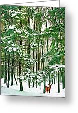 A Snowy Day - Paint Greeting Card