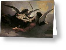 A Soul Brought To Heaven Greeting Card by Adolphe William Bouguereau