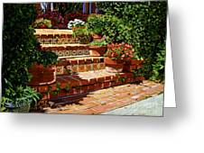 A Spanish Garden Greeting Card