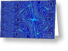 A Spiritual Retereat In Blue Greeting Card