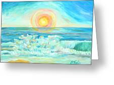 A Splash Of Dawn Greeting Card