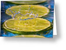 A Splash Of Lime Greeting Card