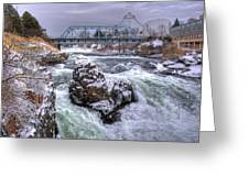 A Spokane Falls Winter Greeting Card