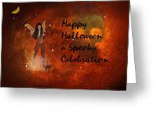 A Spooky, Space Halloween Card Greeting Card
