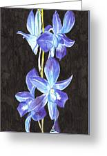 A Spray Of Orchids Greeting Card
