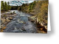 A Spring Day At Little Woodhull Creek Greeting Card