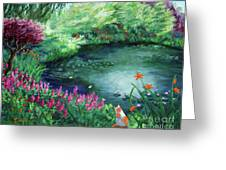 A Spring Day In The Garden Greeting Card