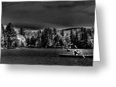 A Spring Day On Old Forge Pond Greeting Card