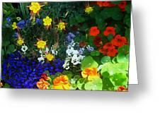 A Spring Garden Medley Greeting Card