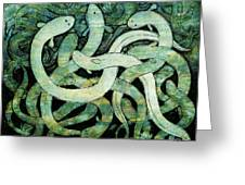 A Squirm Of Eels At The Bottom Of The Pond Greeting Card