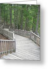 A Stairway View Greeting Card