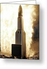 A Standard Missile 3 Is Launched Greeting Card