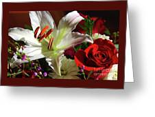 A Star Lily With  A Rose Greeting Card