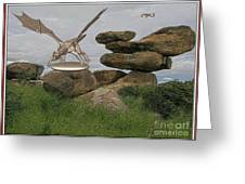 A Statue Of A Dragon Greeting Card